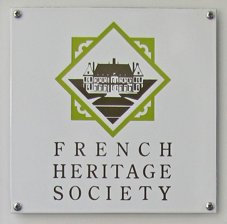 Photograph of French Heritage Society Sign